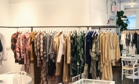 A rack of clothing at Simon Showroom