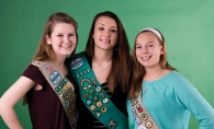 Local award winning Girl Scouts Megan Aune, left, Polina Espersen and Jane Anderson, right.