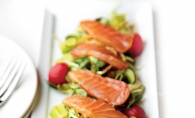 A beautiful dish like this gravlax from Mill Valley Kitchen is the essence of spring.