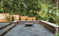An outdoor patio renovated by Landscape Love