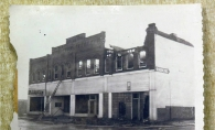 This rare image of the Hamilton Building taken shortly after the fire was recently discovered at the Masonic Lodge in St. Louis Park.