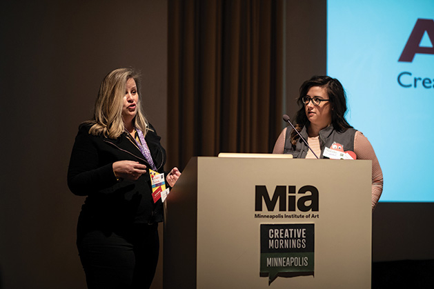 Art Buddies program participants at Creative Mornings at Minneapolis Institute of Arts