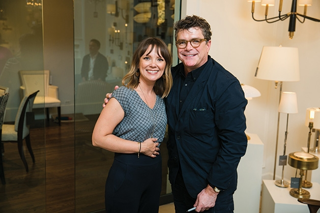 Designer Thomas O'Brien poses with photographer Rachel Nadeau