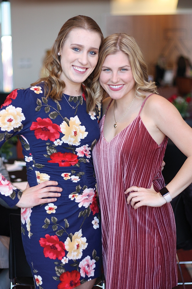Nina Lind and Sophie Pettit at the University of Minnesota's Women in Business gala