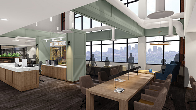 Life Time Work open-plan shared workspace