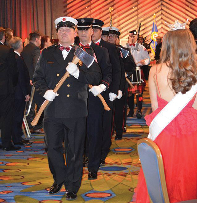 Honor Guard exiting the Firefighters for Healing gala 2018