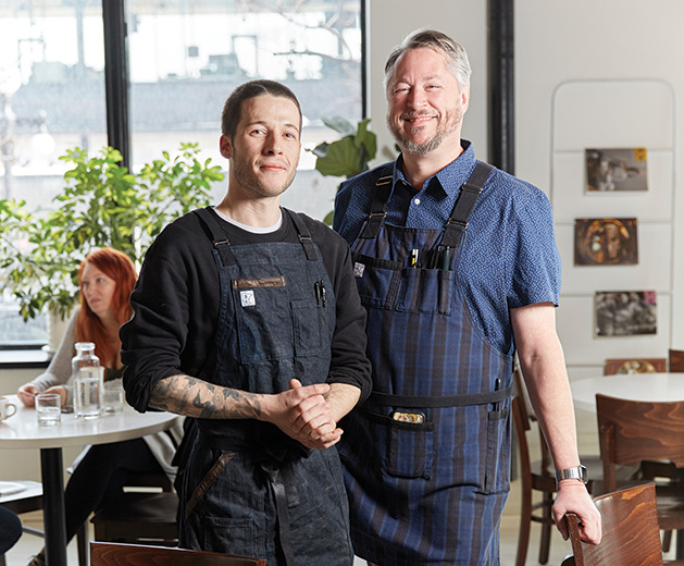 Lowertown Bakehouse founder Christopher Sarles and James Beard Award-winning chef Tim Mckee